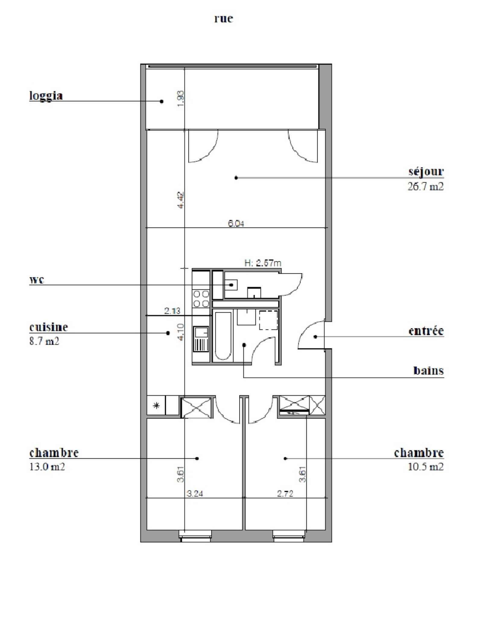 appartement catégorie HM